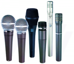 Audio recording microphones