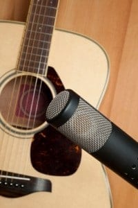 Acoustic Guitar and Microphone