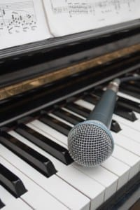 Piano and Microphone