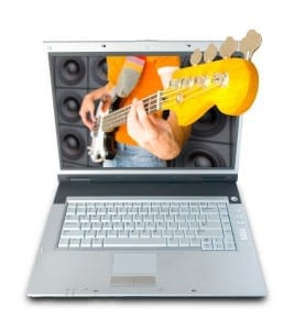 Computer and Guitar