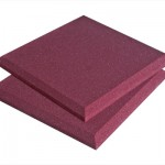 2 Red Square Foam Panels