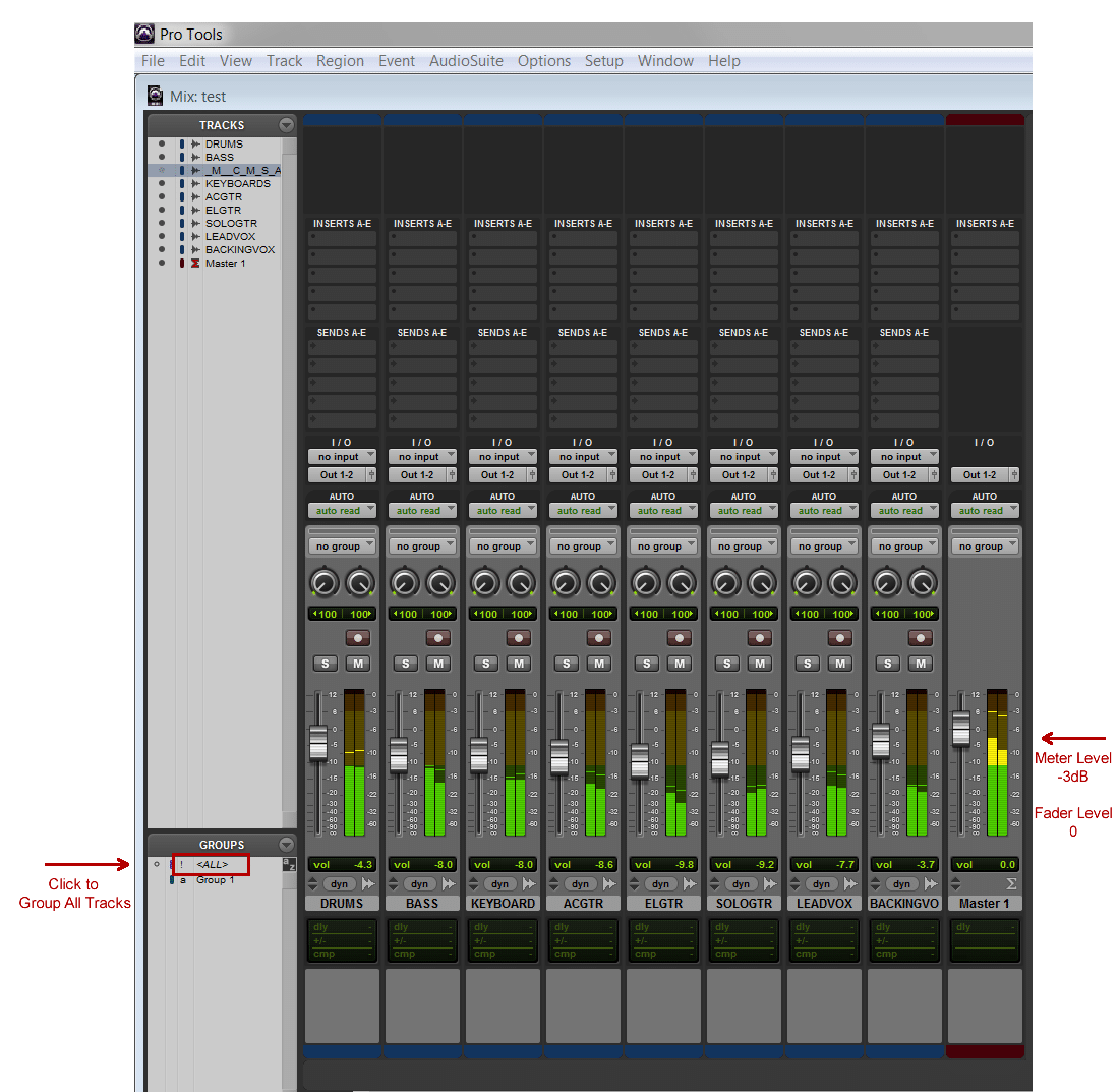 ProTools Levels for Mastering