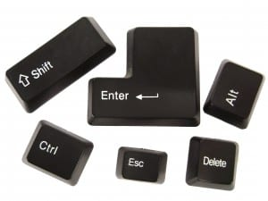 Black keyboard buttons