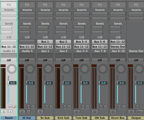 Drum Bus Subgroup Routing