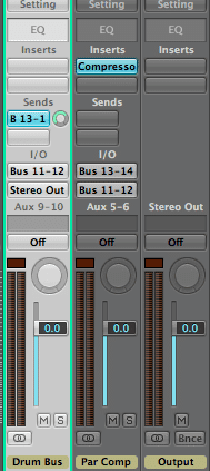 Parallel Compression Drums Bus Mixing