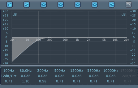 High Pass Filter for Snare Drum
