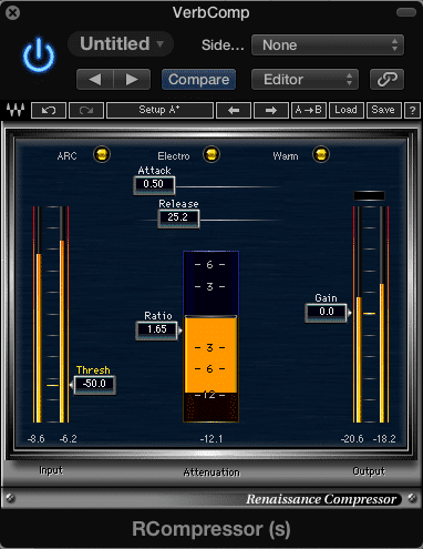 Use compression with a low threshold to compress the entire reverb signal