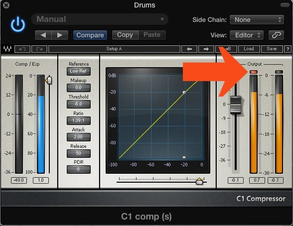 Even though the signal isn't being amplified by this plugin, the output is distorting.  This indicates that the original signal is too loud.
