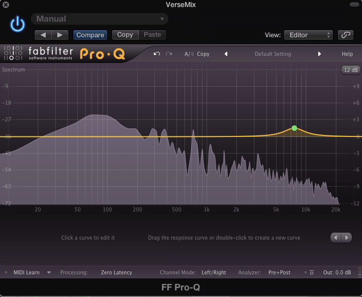 Using the Masking Effect to cover up shrill frequencies in the vocal