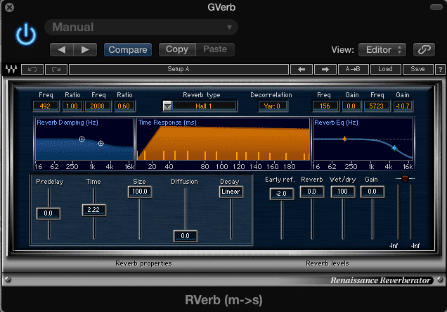 The time of this reverb is set to 1 whole note