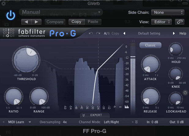 The FabFilter Pro G includes a 'Lookahead' function to improve transient response