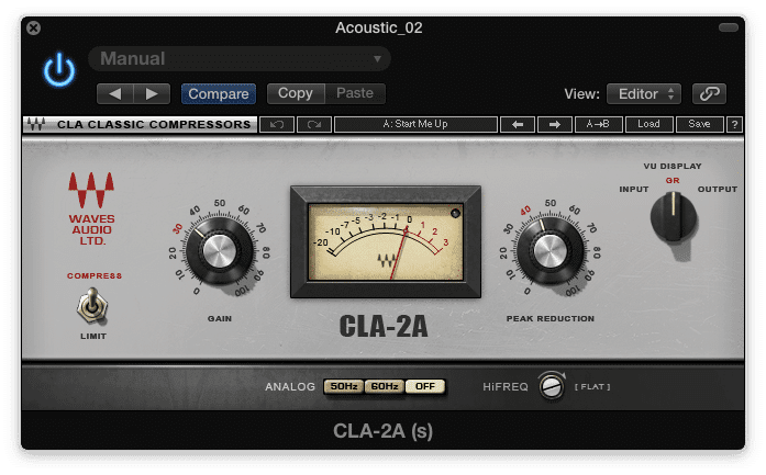 The LA-2A is famous for it's smooth sound, due to it variable release time, and coloration.