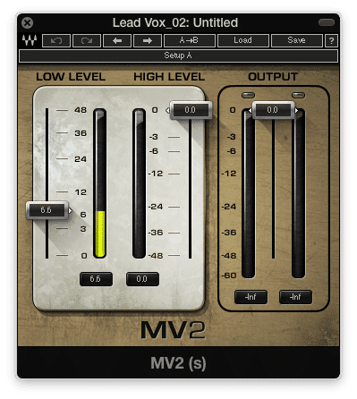 Subtly increase the quieter aspects of your vocal with a low level compressor
