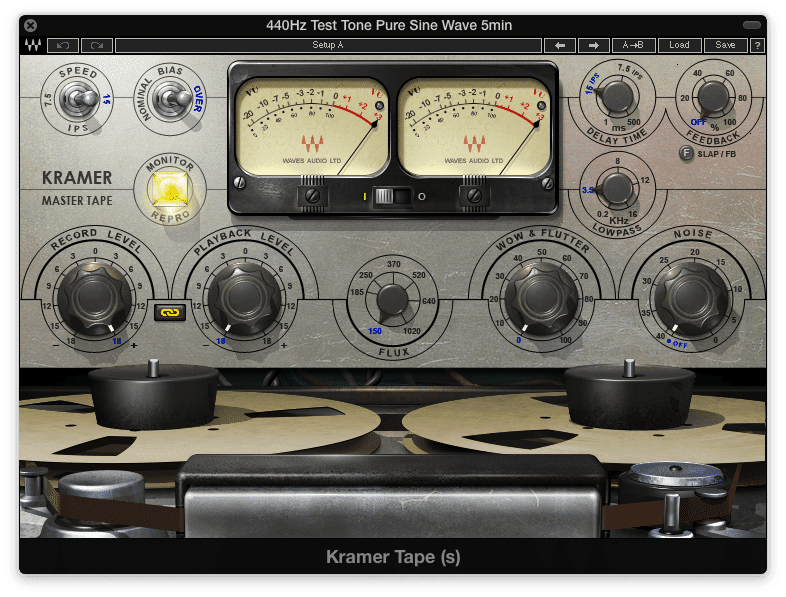 Increasing the input and decreasing the output results in a tape overdrive effect.