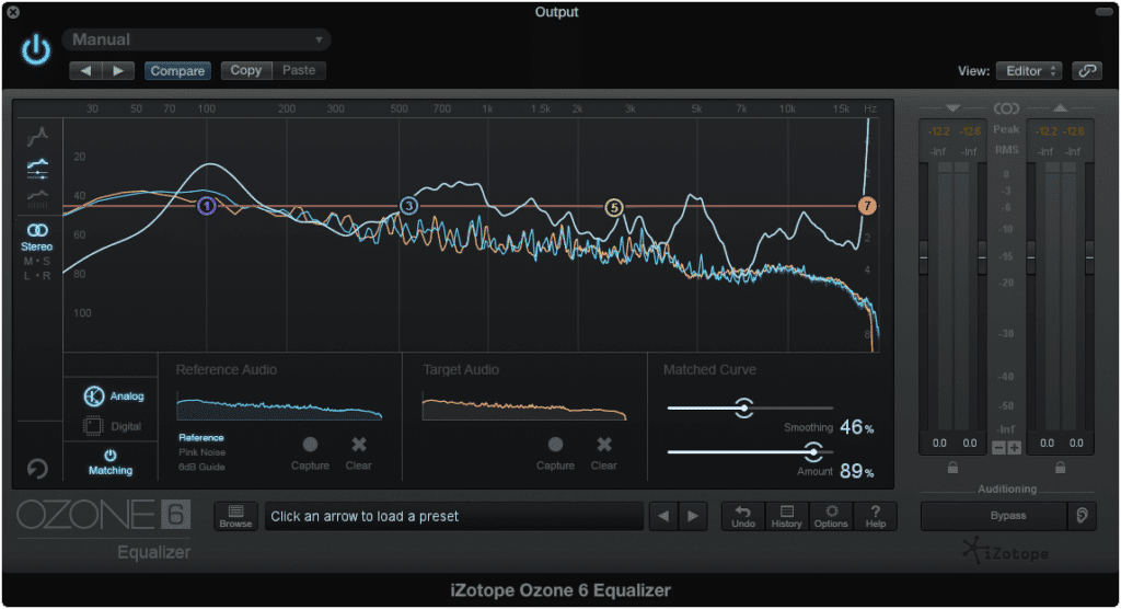 Creating new bands can alter the EQ curve, but not accurately.