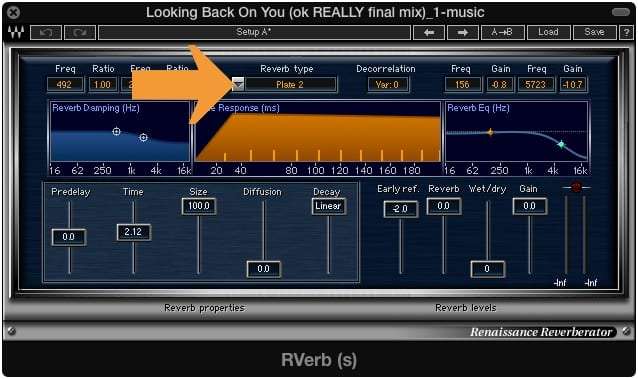 Changing a reverb's type changes the reflection arrival time.