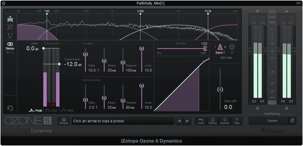 Use a multi-band compression instead of a limiter.