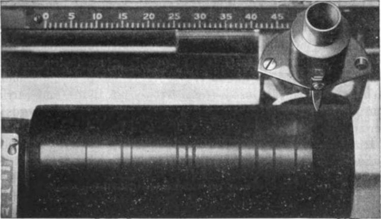 Wax cylinders preceded the vinyl record. Lateral movements recorded sound waves similar to how the inner ear functions.