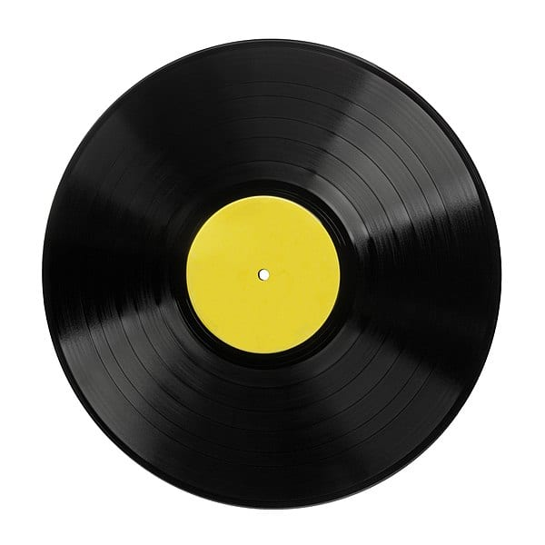 The circumference of the record is great along the outside, than on the inside.