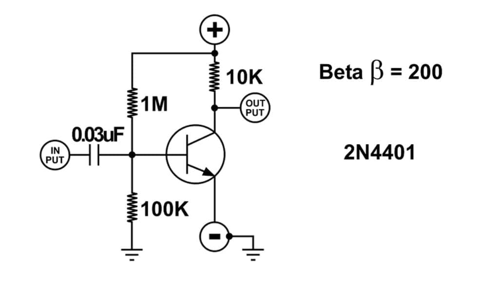 The electrical layout of a transistor.