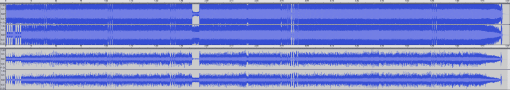 This is a disturbingly compressed waveform from Metallica's Death Magnetic.