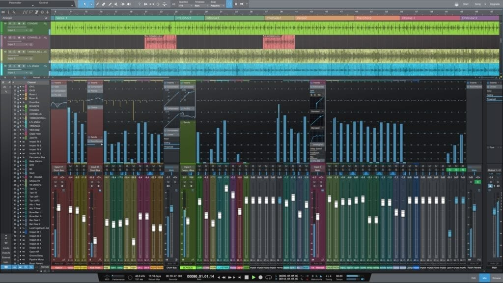 Great for tracking, mixing, and mastering, the Presonus Studio One Pro is a diverse and affordable option for many engineers.