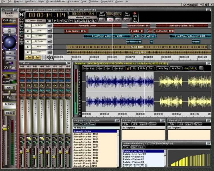 This DAW allows for visual customization and an analog-based workflow.