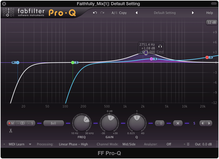 What may be a reasonable change to an individual instrument, may not work well during the mastering process.