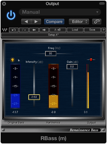 RBass generates low-order harmonic frequencies.