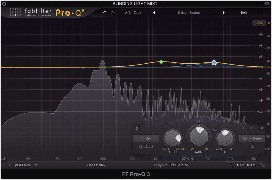 FabFilter Pro-Q offers immense flexibility with low CPU usage.