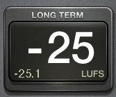 Long term or integrated LUFS is measured over time.