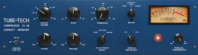 This opto compressor offers a smooth and transient response, great for vocals.