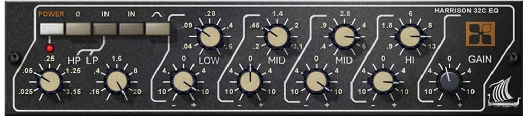 This parametric EQ is the emulation of the console equalizer used on Thriller.