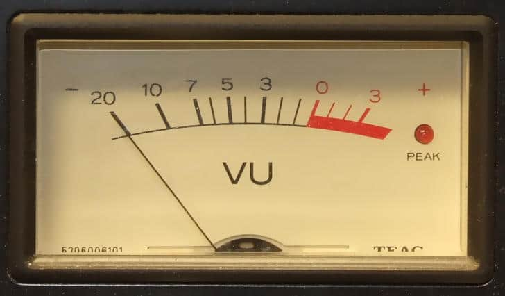 VU meters offer valuable information about your master's dynamics.