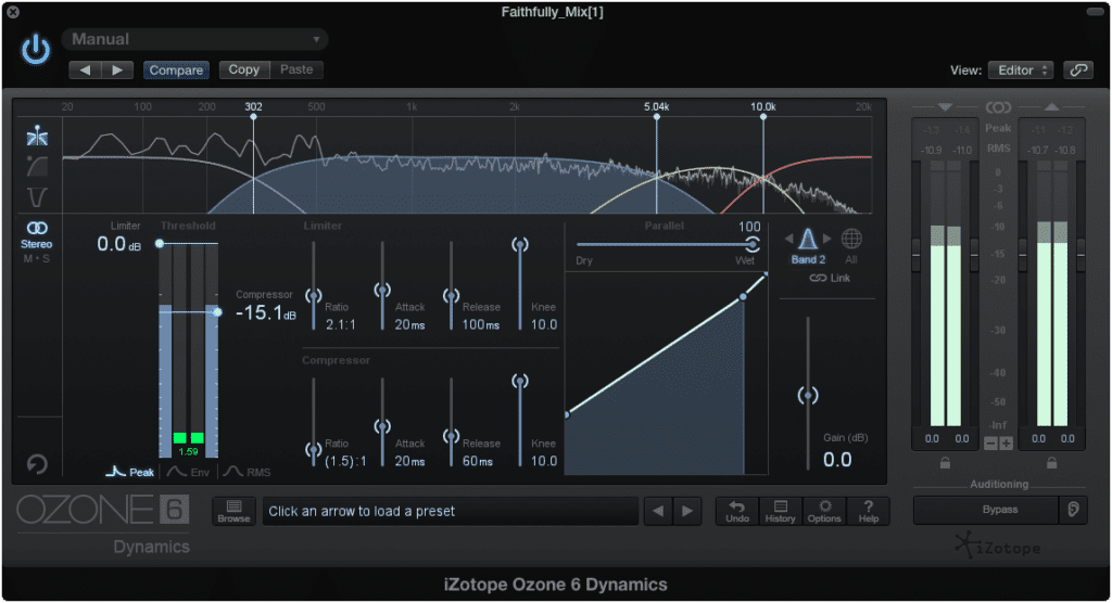 Most multiband compressors can also be multiband expanders.