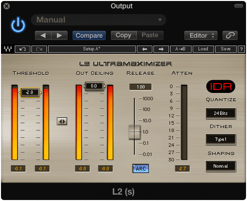 Be careful when using limiters not to destroy your dynamic range.