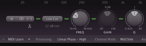 Many modern plugins are capable of separating a signal into mid/side.