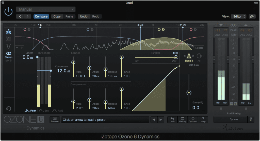 Solo and adjust the correct band.  For sibilance, this is typically between 4kHz and 12kHz.