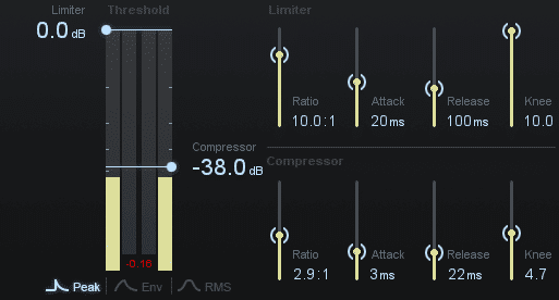 Slowly lower the threshold until the signal is attenuated, only when Esses are sung.