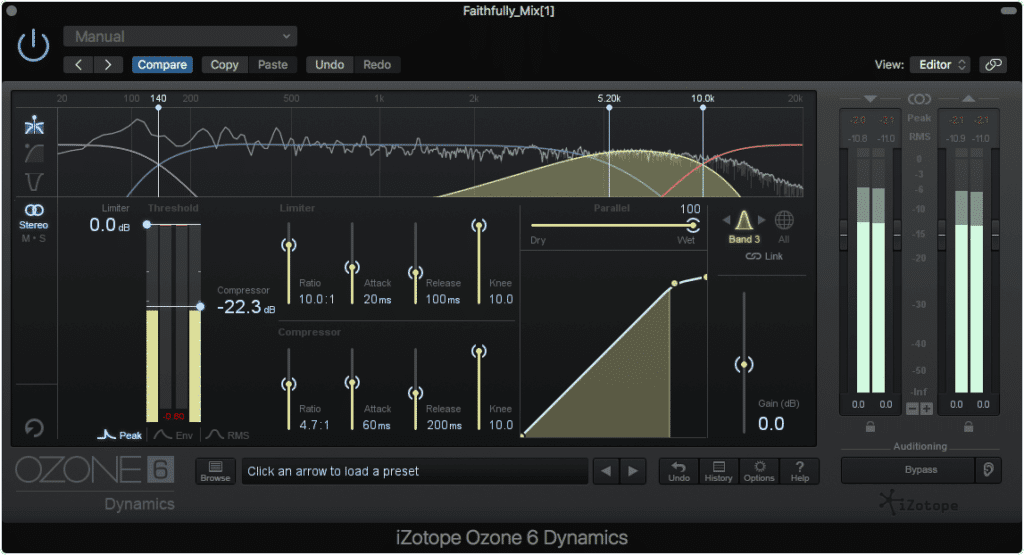 Using the same technique as listed above can also work for de-essing during mastering.  Be careful not to attenuate more than the 'Ess' sounds.