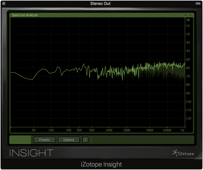 The POW-r 1 dither noise made apparent by the null test, +60dB