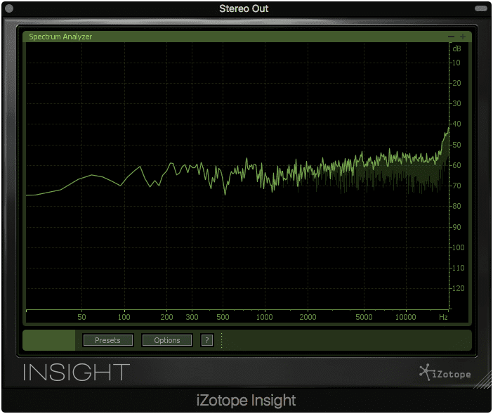 The POW-r 3 dither noise made apparent by the null test, +60dB