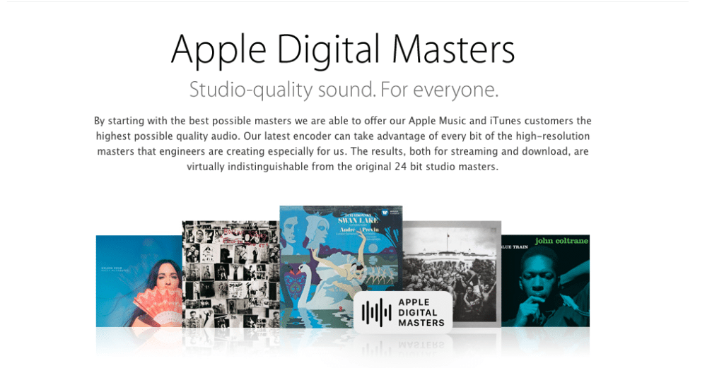 Apple has come up with a protocol and an advanced encoding process, designed to create great-sounding music.