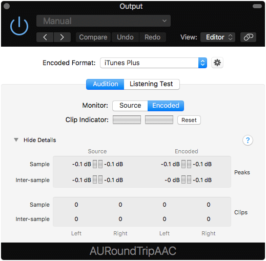 This plugin shows clipping and inter-sample peaks in real-time.