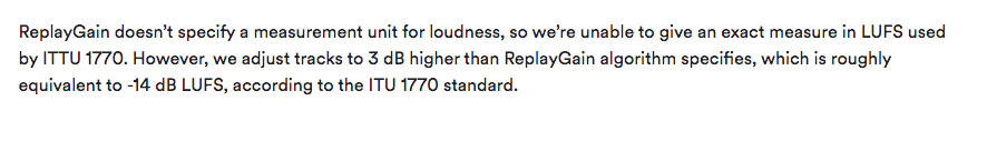 Spotify plans to use ITU-1770 metering in the future.