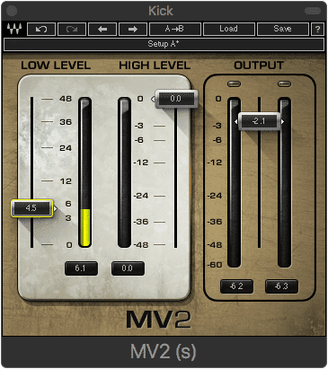 Low-level compression amplifies harder to hear aspects of the recording.