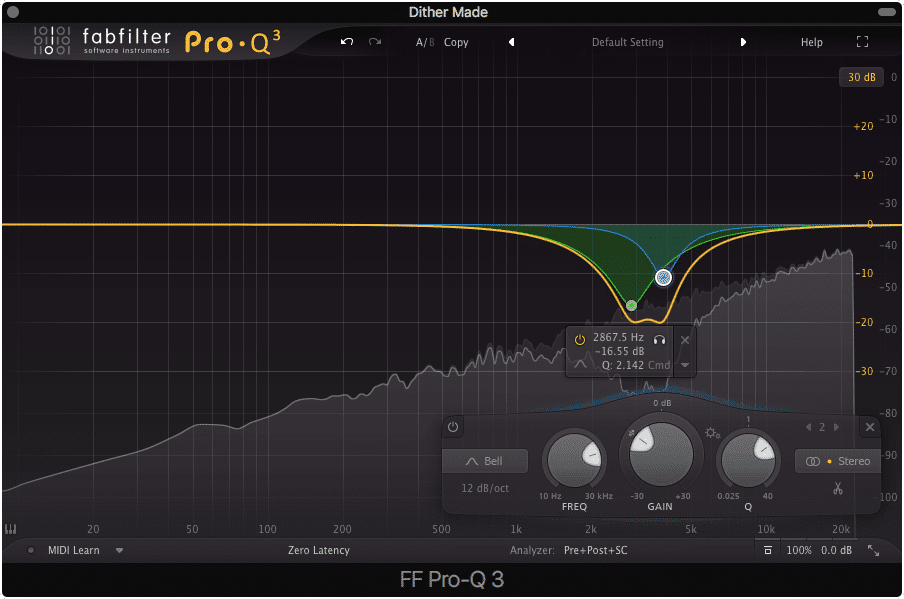 Reference the Fletcher-Munson curve to see why this EQ is being made.