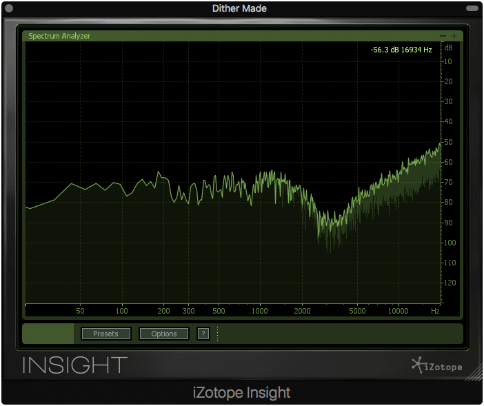 Use a frequency analyzer to measure and visualize your noise shaping.