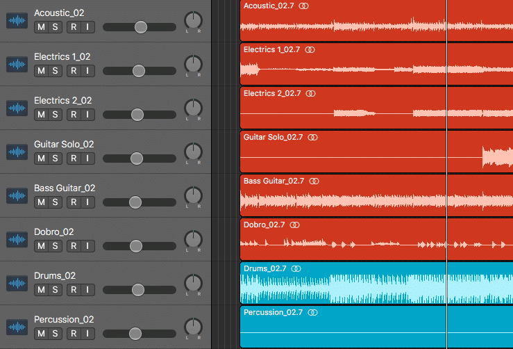 Stems include the full instrument group and all of its relative processing, like reverb compression, etc.