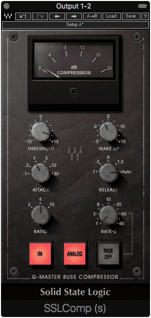 A compressor on the master output will compress differently whenever a differing signal is put in.